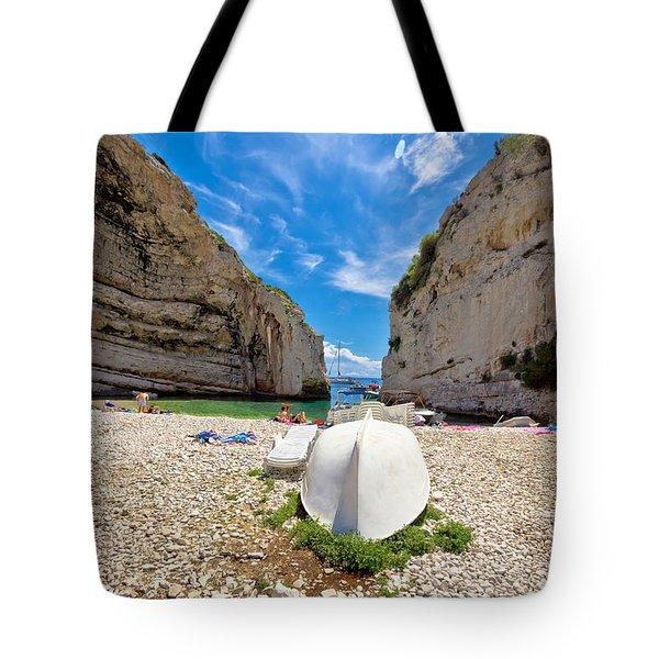 Stinva Bay Beach Summer View Tote Bag