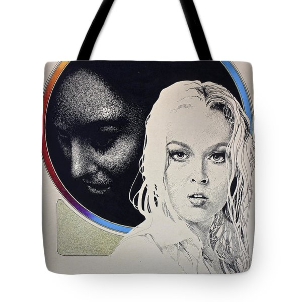 Tote Bag featuring the painting Stipple 1 --over The Hill by Cliff Spohn