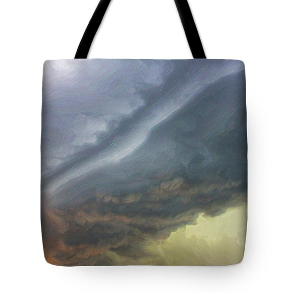 Stirred Up Sunset Tote Bag