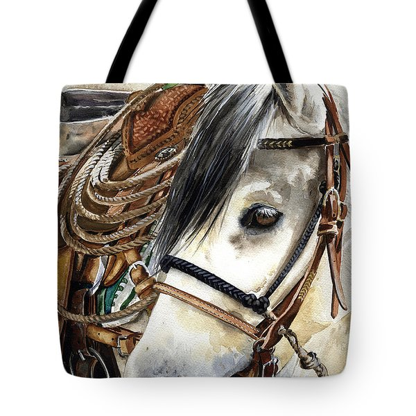 Stirrup Up Tote Bag by Nadi Spencer