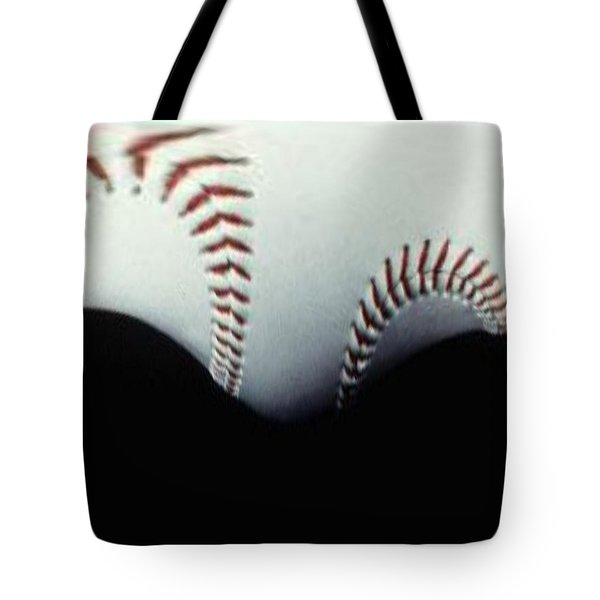 Stitches Of The Game Tote Bag by Tim Allen