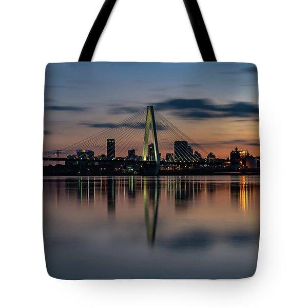Stl Cityscape Tote Bag by Jae Mishra