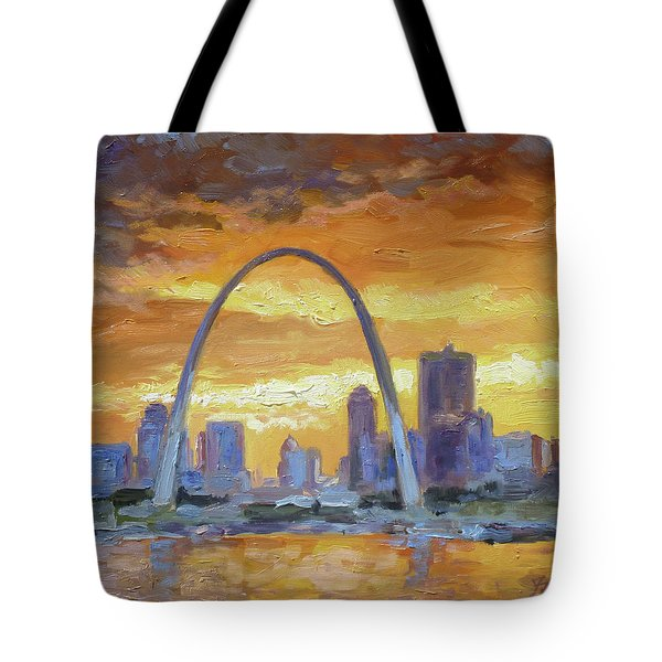 St.louis Arch - Sunset Tote Bag