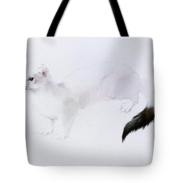 Stoat Watercolor Tote Bag