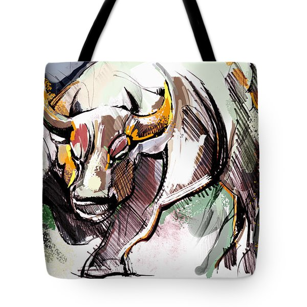 Stock Market Bull Tote Bag