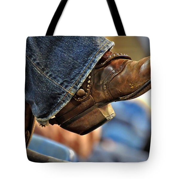 Stock Show Boots I Tote Bag by Joan Carroll