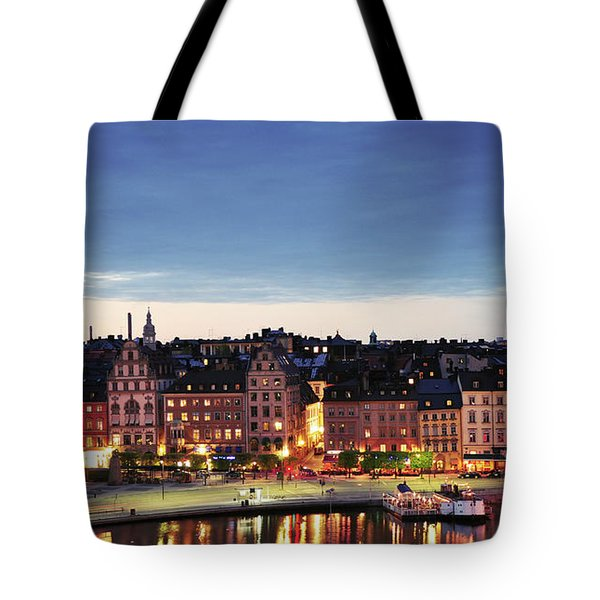 Stockholm By Night Tote Bag