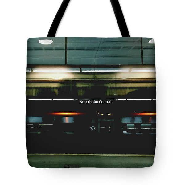 Stockholm Central- Photograph By Linda Woods Tote Bag