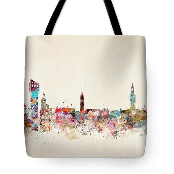 Stocklholm Sweden Skyline Tote Bag