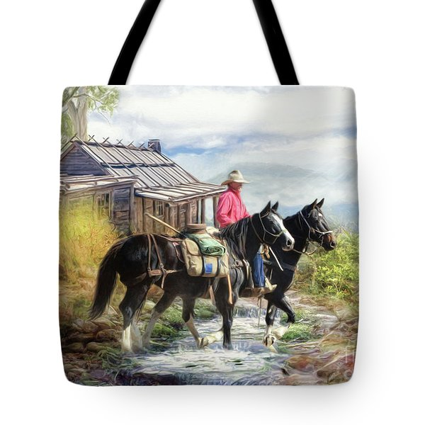 Stockman Of The Snowy Tote Bag