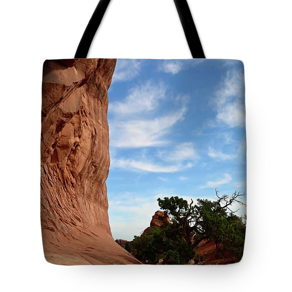 Tote Bag featuring the photograph Stoic Stone Arch In Utah by Bruce Gourley