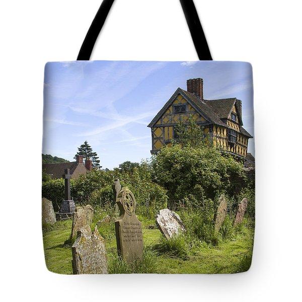 Stokesay Castle Gatehouse Shropshire England Tote Bag