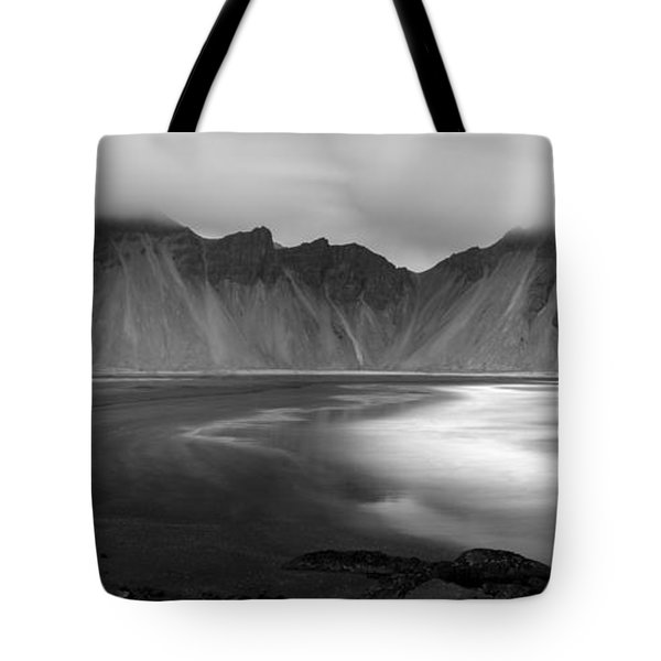Stokksnes Iceland Bandw Tote Bag by Gunnar Orn Arnason