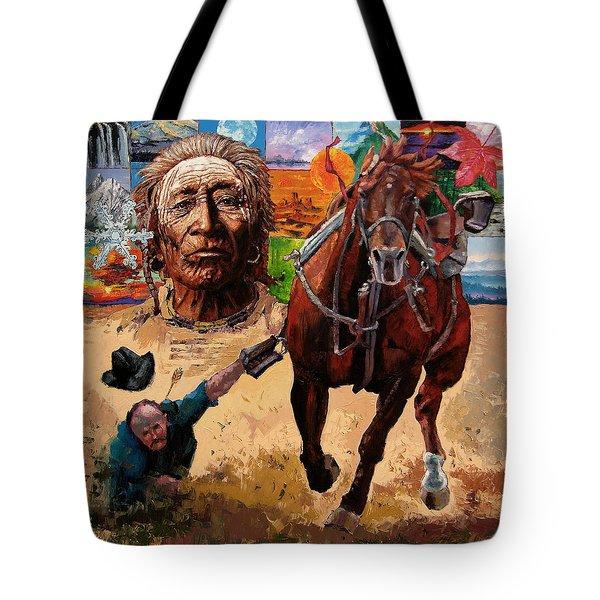 Stolen Land Tote Bag