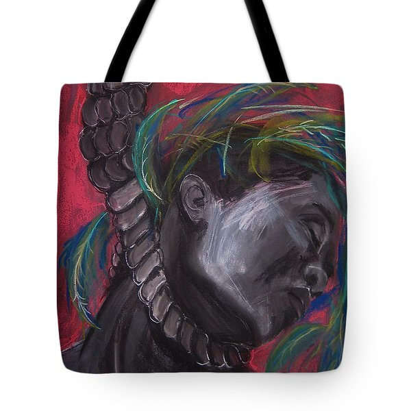 Tote Bag featuring the drawing Stolen Resource by Gabrielle Wilson-Sealy