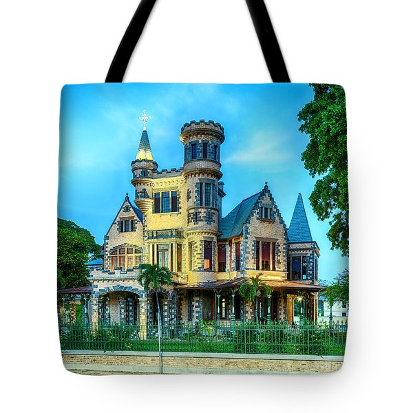 Tote Bag featuring the photograph Stollmeyer Castle Trinidad by Rachel Lee Young
