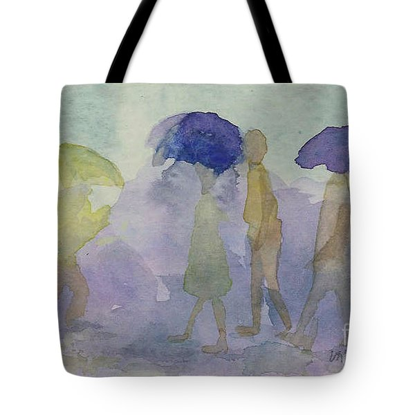 Stomping In The Rain Tote Bag by Vicki  Housel