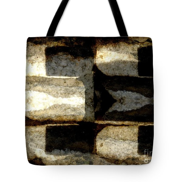 Stone Abstract Tote Bag