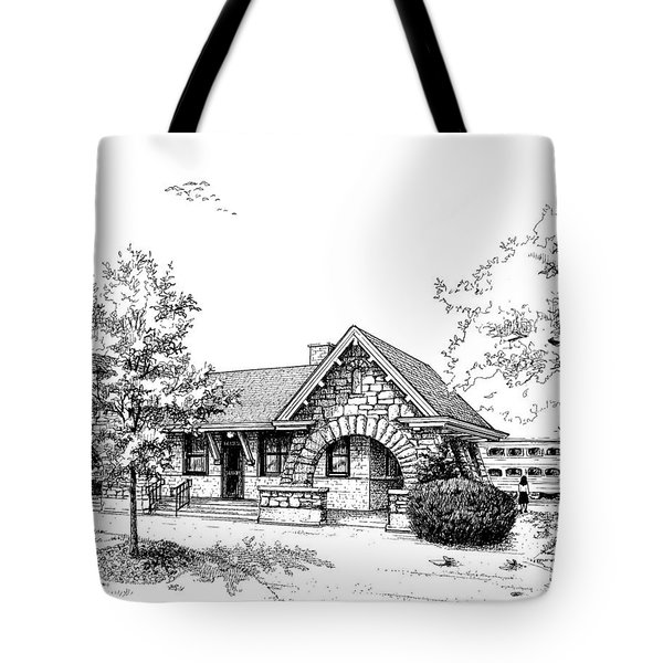 Stone Ave. Train Station Tote Bag