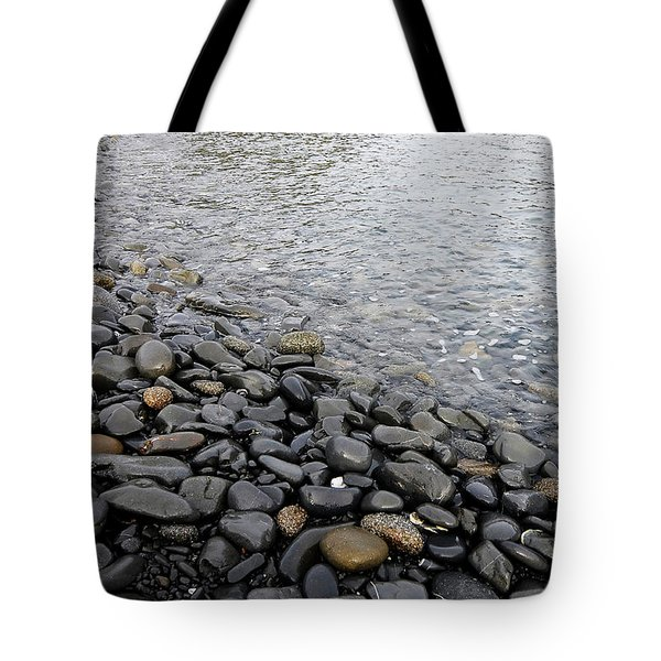 Tote Bag featuring the photograph Menorca Pebble Beach  by Pedro Cardona
