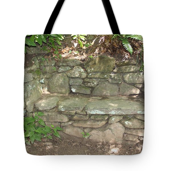 Stone Bench Tote Bag