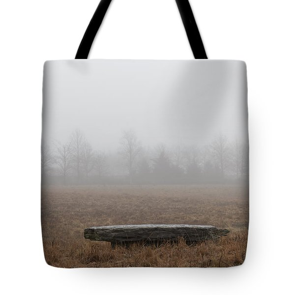 Stone Bench At Wickapogue Tote Bag by Steve Gravano