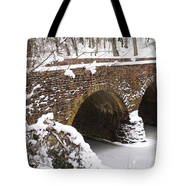 Stone Bridge At Bullrun Virginia Tote Bag by Heidi Poulin