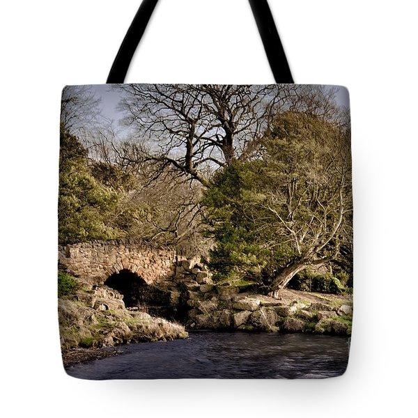 Stone Bridge On The Lake Tote Bag