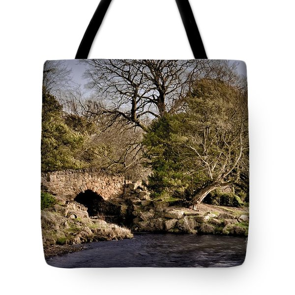 Stone Bridge On The Lake Tote Bag