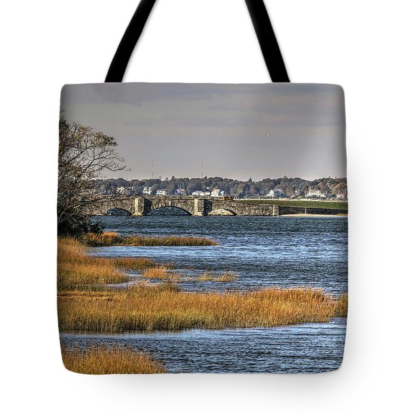Tote Bag featuring the photograph Stone Bridge At Mills Gut Colt State Park by Tom Prendergast