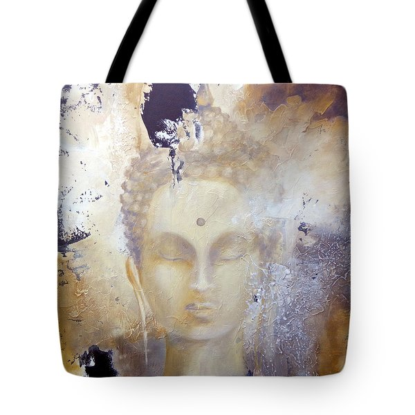 Tote Bag featuring the painting Stone Buddha by Dina Dargo
