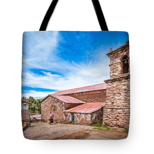 Tote Bag featuring the photograph Stone Buildings by Gary Gillette