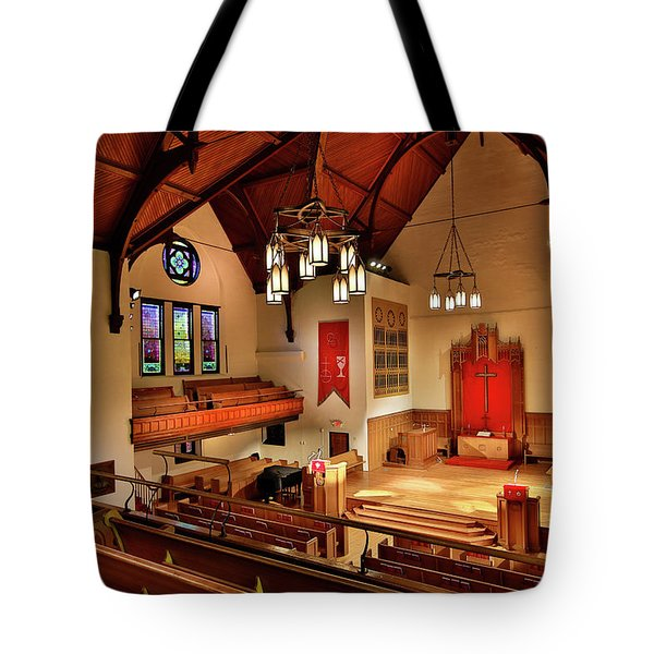 Stone Chapel Tote Bag