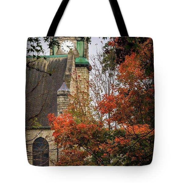Stone Chapel Fall Tote Bag