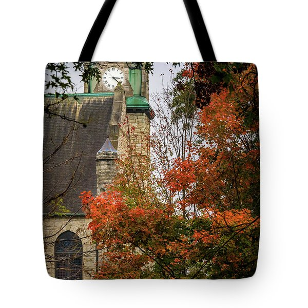 Stone Chapel Fall Tote Bag