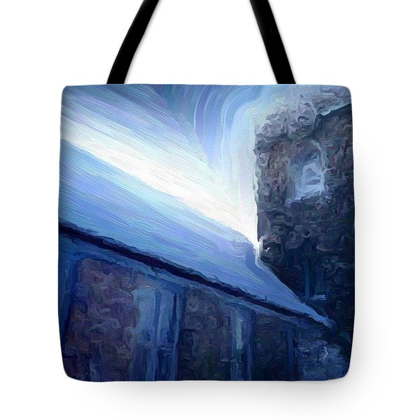 Stone Church Watch Tower Tote Bag