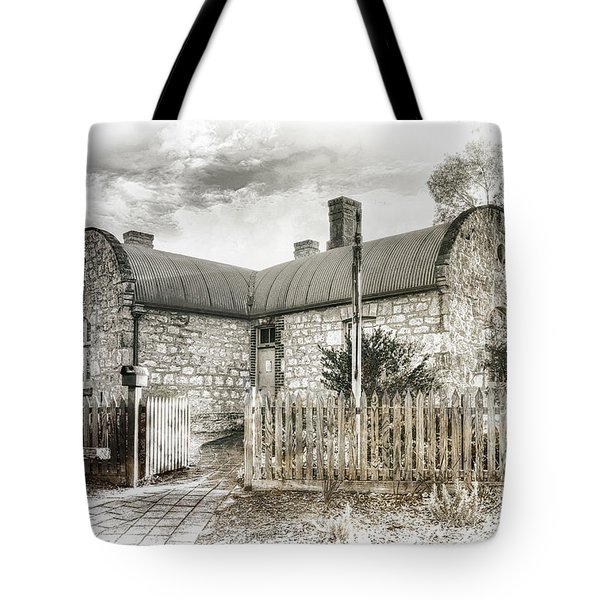 Tote Bag featuring the photograph Stone Cottage by Wayne Sherriff