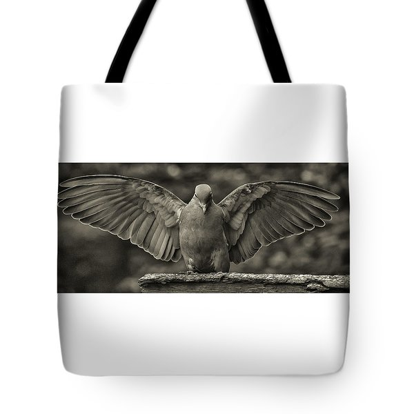 Stone Dove Landing Tote Bag by Jim Moore