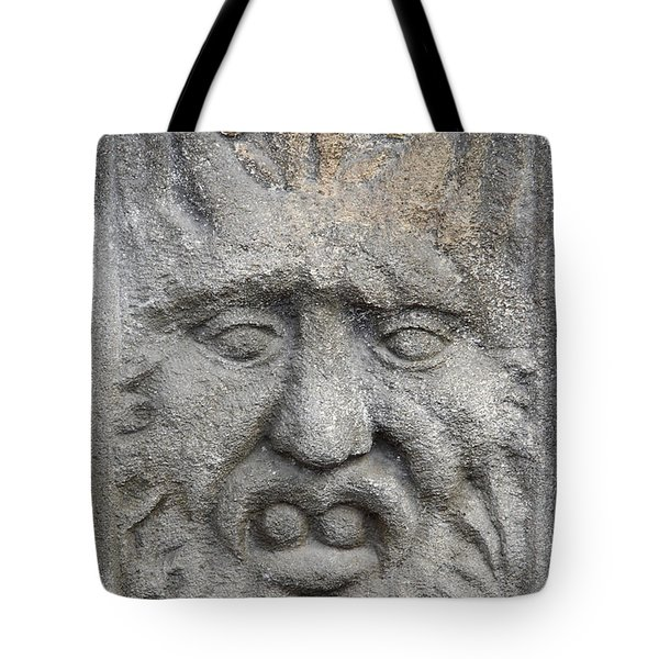 Stone Face Tote Bag by Michal Boubin