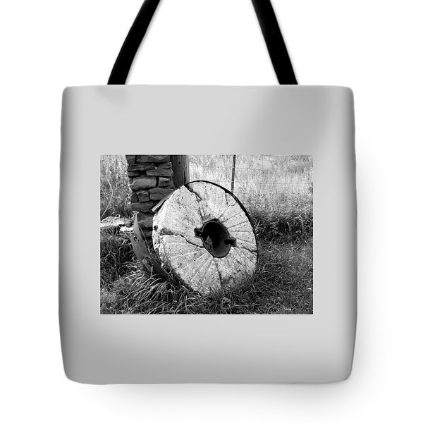 The Old Stone Grinding Wheel Tote Bag