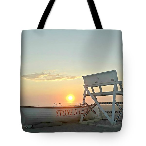 Stone Harbor Sunrise Tote Bag