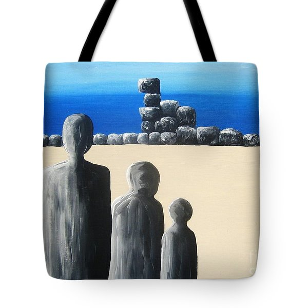 Stone Horizon Tote Bag by Reb Frost