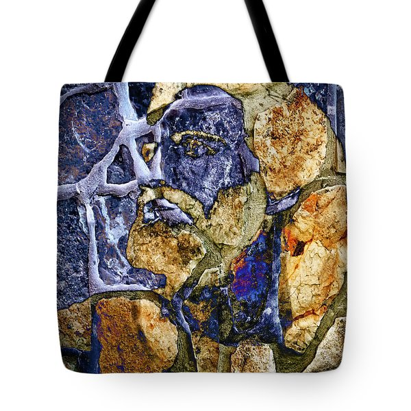 Tote Bag featuring the photograph Stone Man by Pennie  McCracken
