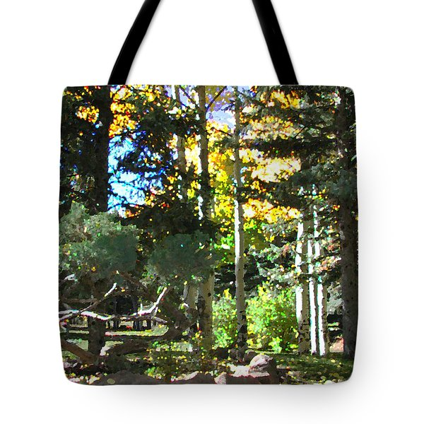 Tote Bag featuring the digital art Stone Park Trails by Deleas Kilgore