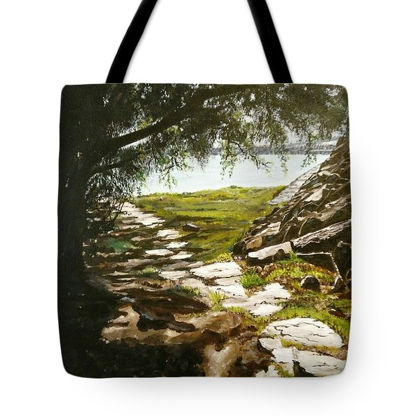 Stone Path To The Ocean Tote Bag