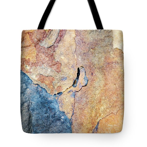 Tote Bag featuring the photograph Stone Pattern by Christina Rollo