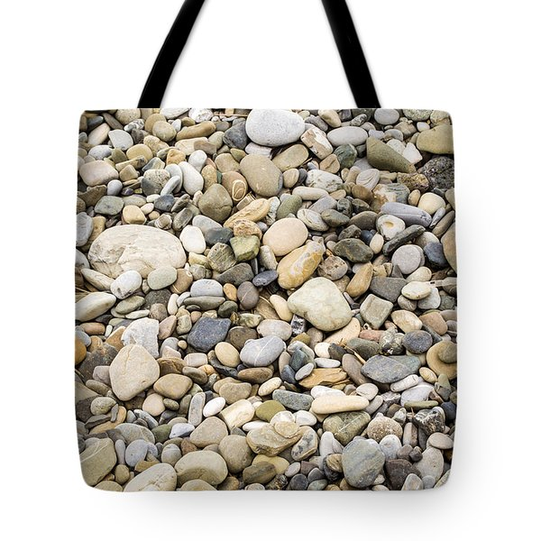 Tote Bag featuring the photograph Stone Pebbles Patterns by John Williams