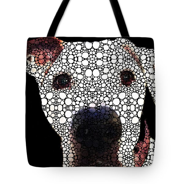 Stone Rock'd Dog 2 By Sharon Cummings Tote Bag