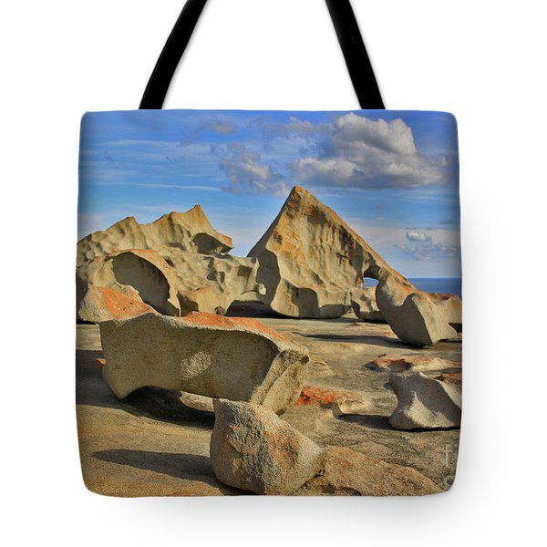 Tote Bag featuring the photograph Stone Sculpture by Stephen Mitchell
