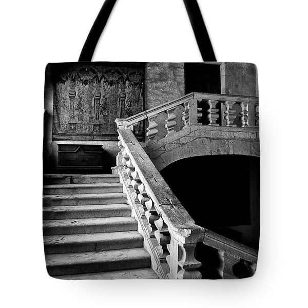 Tote Bag featuring the photograph Stone Stairs by Adrian Pym